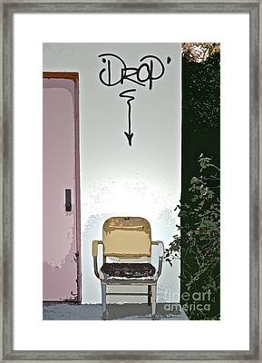 Drop Framed Print by Gwyn Newcombe