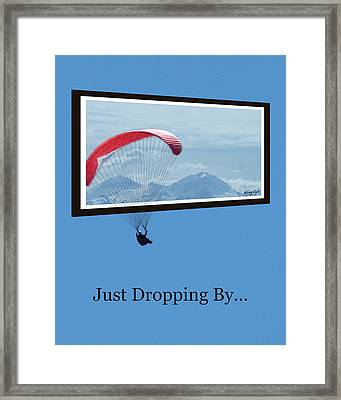 Dropping In Hang Glider Framed Print by Cindy Wright