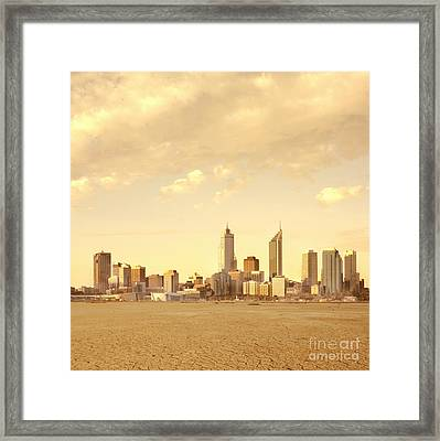 Drought-affected City Framed Print by Dave & Les Jacobs