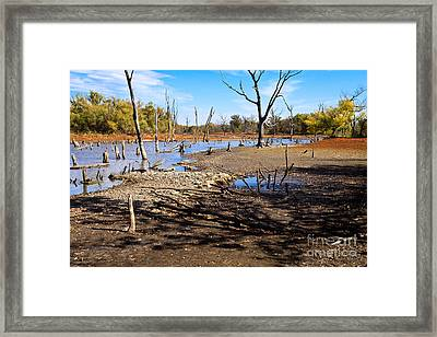 Framed Print featuring the photograph Drought In The Flint Hills by Lawrence Burry