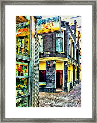 Drug And Sex Area In Amsterdam Framed Print by Yury Malkov