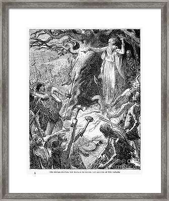 Druids And Britons Framed Print by Granger