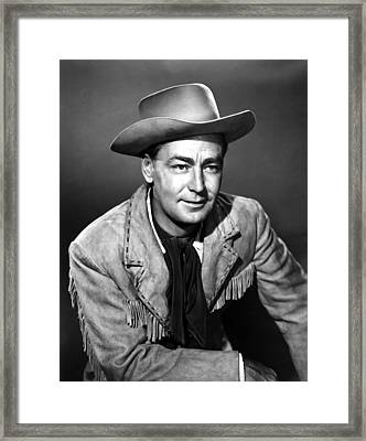 Drum Beat, Alan Ladd, 1954 Framed Print by Everett