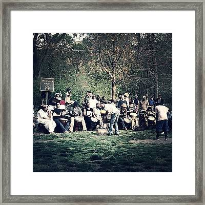 Drum Circle Framed Print