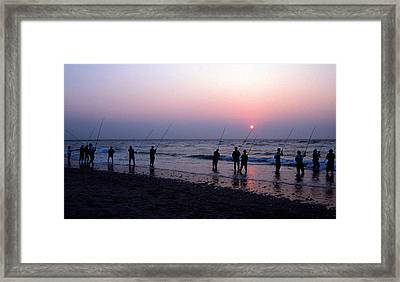 Drum Run Cape Point Framed Print by Skip Willits
