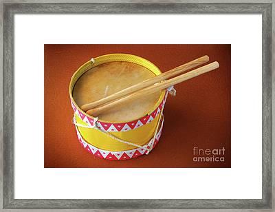Drum Toy Framed Print