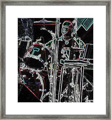Drummer Framed Print by David Alvarez