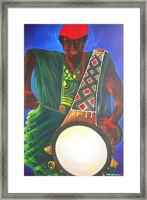 Drummerboy Framed Print by Leon Salako