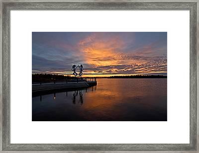 Drummers Sunset Framed Print