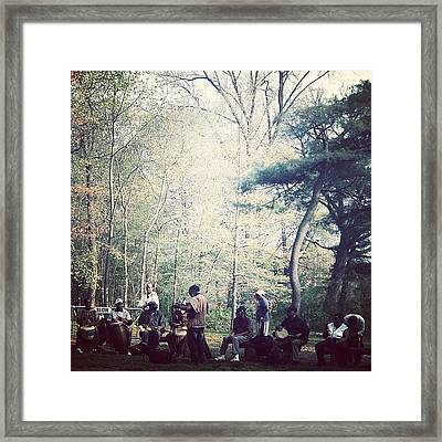 Drumming Circle Framed Print