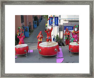 Drumming For The Wedding Framed Print by Alfred Ng