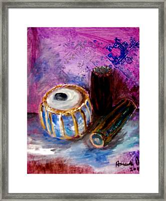 Drums 4 Framed Print by Amanda Dinan