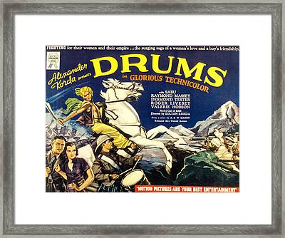 Drums, Valerie Hobson Lower Left, Sabu Framed Print