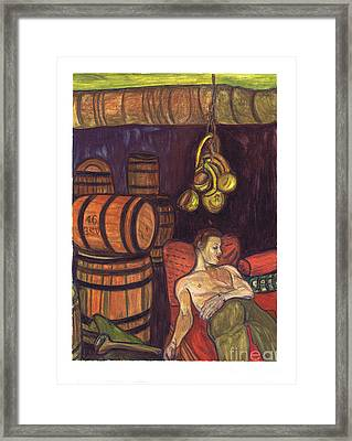 Drunken Arousal Framed Print
