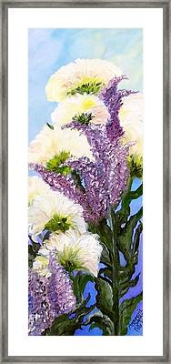Framed Print featuring the painting Drunken Flowers by Annamarie Sidella-Felts