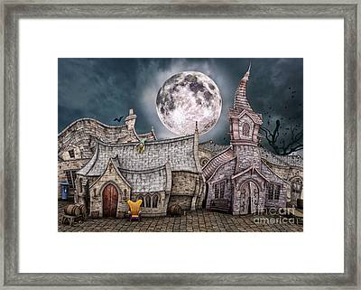 Drunken Village Framed Print by Jutta Maria Pusl