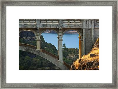 Dry Canyon Bridge Framed Print