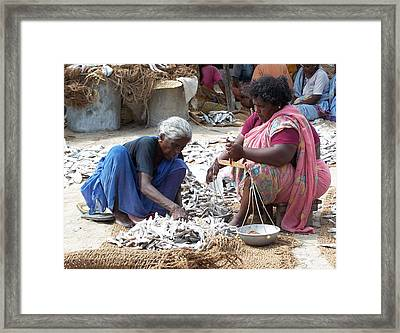 Dry Fish Framed Print by Sugantha Priya