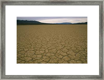 Dry Lake Bed Near Death Valley Framed Print by Gordon Wiltsie