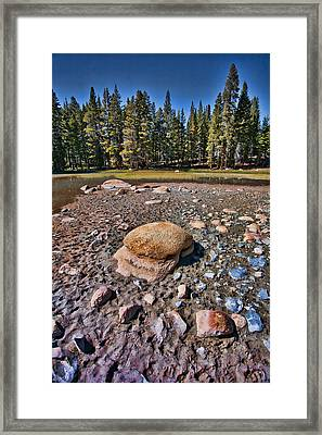 Dry Lake Framed Print by Bonnie Bruno
