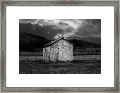 Dry Storm Framed Print by Ron Jones