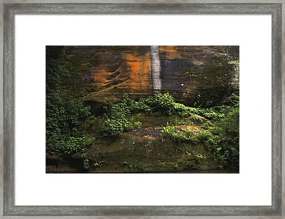 Dry Waterfall Framed Print