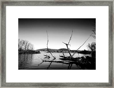 Dryden Lake New York Framed Print by Paul Ge
