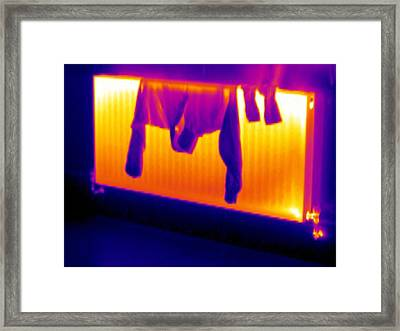 Drying Clothes Framed Print