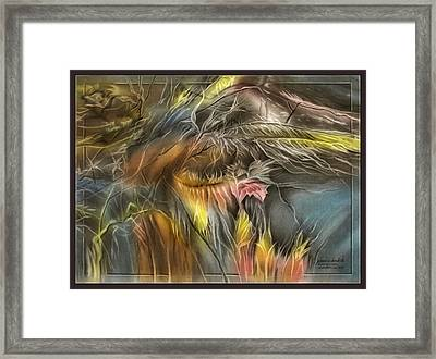 Framed Print featuring the pastel Dryleavescape 2009 by Glenn Bautista