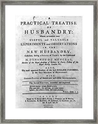 Du Monceau: Title Page Framed Print by Granger