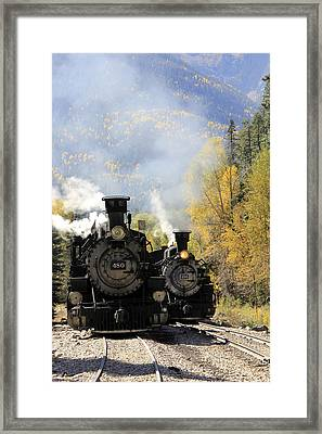 Dual Engines Framed Print