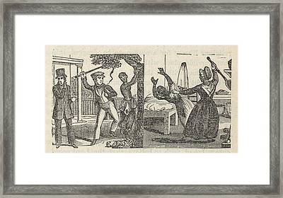 Dual Illustration Of The Harsh Framed Print