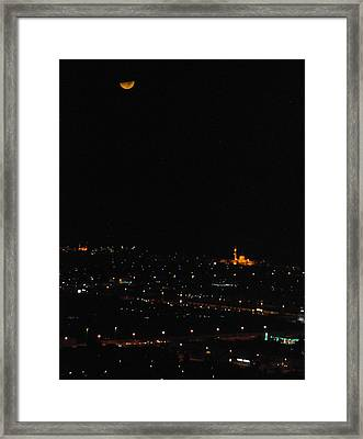 Framed Print featuring the photograph Dubai At Night by Steven Richman
