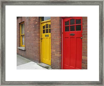 Framed Print featuring the photograph Dublin Doors by Arlene Carmel