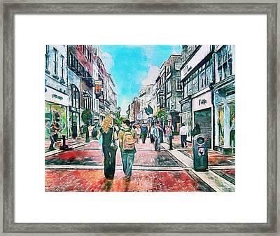 Dublin Grafton Street Framed Print