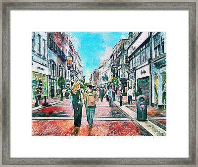 Dublin Grafton Street Framed Print by Yury Malkov