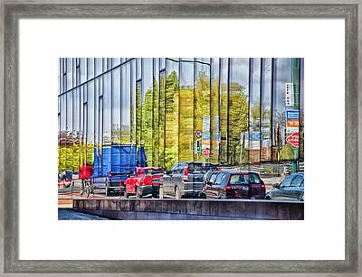 Dublin Traffic Framed Print