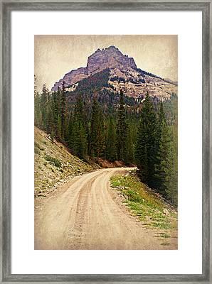 Dubois Mountain Road Framed Print by Marty Koch