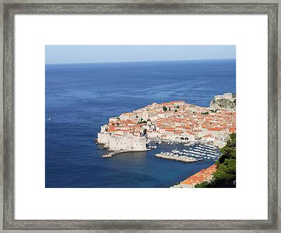Framed Print featuring the photograph Dubrovnik Former Yugoslavia Croatia by Joseph Hendrix