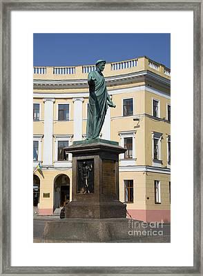 Duc De Richelieu Sculpture - Odessa Framed Print by Christiane Schulze Art And Photography