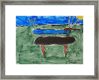 Duck And Pond By The Sea Framed Print