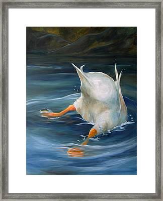 Duck Butt Framed Print by Mary Sparrow