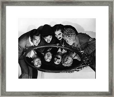 Duck Soup, Zeppo Marx, Chico Marx Framed Print by Everett