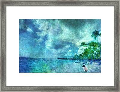 Framed Print featuring the digital art Dude Looks Like Rain by Jean Moore