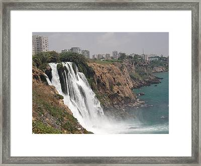 Duden Waterfalls In Turkey Framed Print by