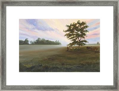 Framed Print featuring the painting Duel At Dawn by Karen Wilson