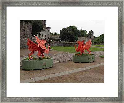 Dueling Dragons Framed Print by Ian Kowalski