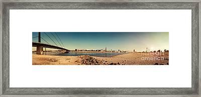 Duesseldorf Rhine Panorama Framed Print by Frank Waechter