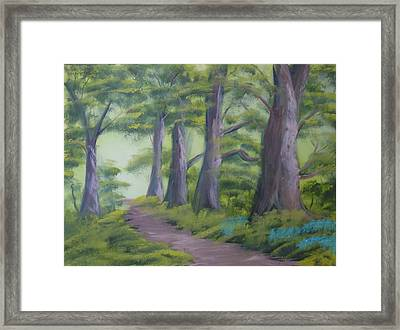 Framed Print featuring the painting Duff House Path by Charles and Melisa Morrison