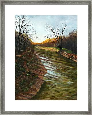 Duffins Creek Ajax Framed Print by Sharon Steinhaus